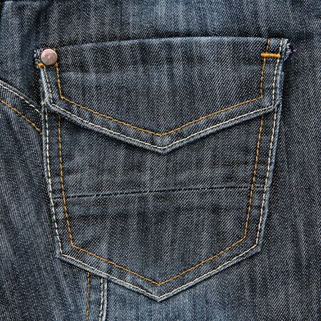 cloth back: Jeans pocket. Fragment of jeans.