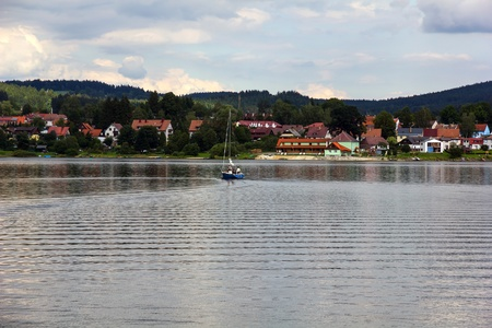 lipno:  Frymburk - small town near Lipno lake in Czech Republic. Stock Photo