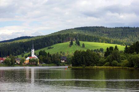 lipno:  Frymburk - small town near Lipno lake in Czech Republic  Stock Photo