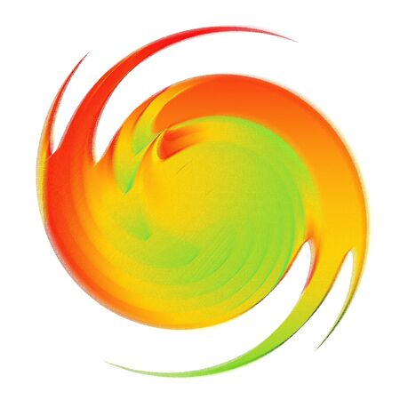varicolored: Abstract multicolor backdrop. Swirl motion design. Illustration.  Stock Photo
