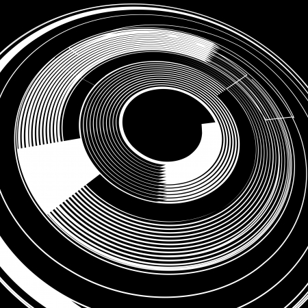 Lines in spiral rotation  Abstract background  Vector art  Vector