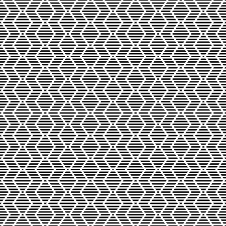 dashed line: Seamless geometric striped zigzag pattern. Vector art.