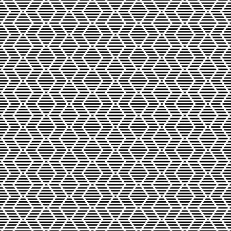dashed: Seamless geometric striped zigzag pattern. Vector art.