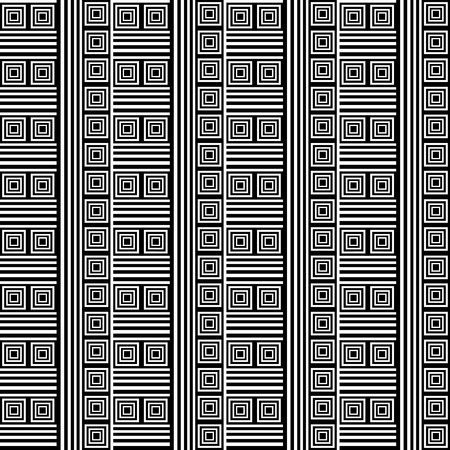 web2: Seamless geometric texture. Striped pattern with square elements. Vector art. Illustration