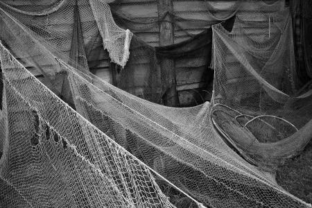 holed: Old fishing nets