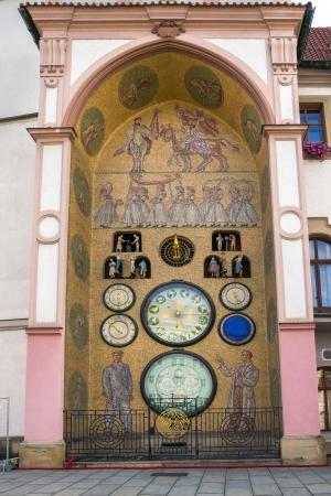 olomouc: Astronomical clock in Olomouc, Czech Republic