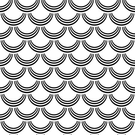 escamas de peces: Patrón de la escala de pescados de textura arte vectorial Seamless
