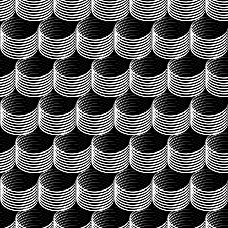 Seamless op art texture  Vector art