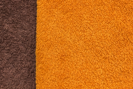 Orange and brown towel texture  Stock Photo - 23009232