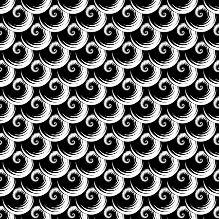 Seamless texture. Pattern with spiral elements. Vector art. Illustration