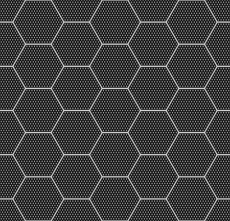 Hexagons texture. Seamless geometric pattern. Vector art. Illustration