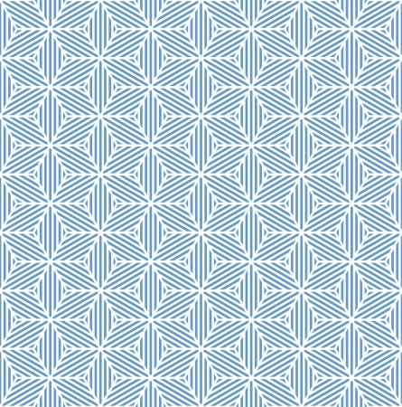 hexagonal pattern: Seamless blue geometric texture. Striped diamonds pattern. Vector art.