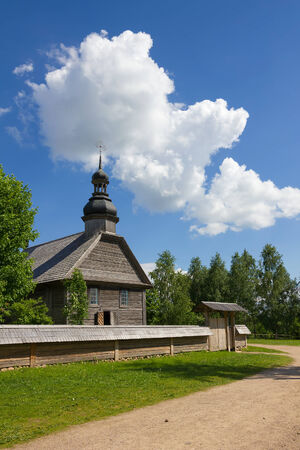 Old wooden rural church near Minsk, Belarus  photo