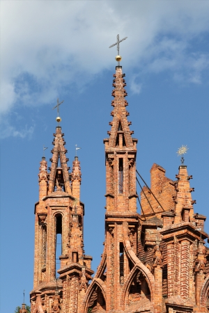anne: Gothic towers of St  Anna Stock Photo