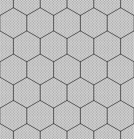 hexagonal pattern: Hexagons texture  Seamless geometric pattern  Vector art  Illustration