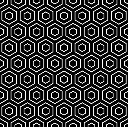 Hexagons texture  Seamless geometric pattern  Vector art  Illustration