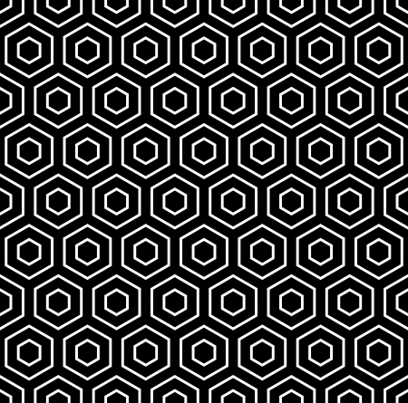 Hexagons texture  Seamless geometric pattern  Vector art  Illustration