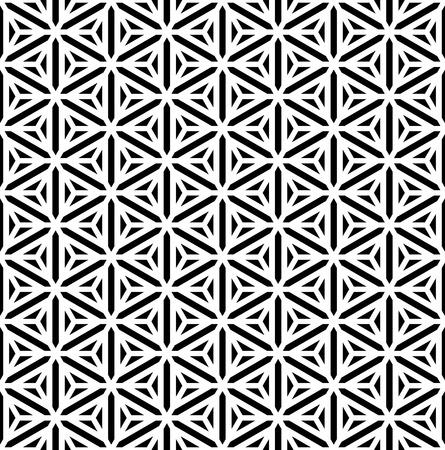 diamonds on black:  Seamless geometric texture  Hexagons, diamonds, triangles and stars pattern  Vector art  Illustration