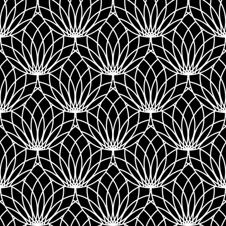 Seamless lacy pattern. Vector art. Illustration