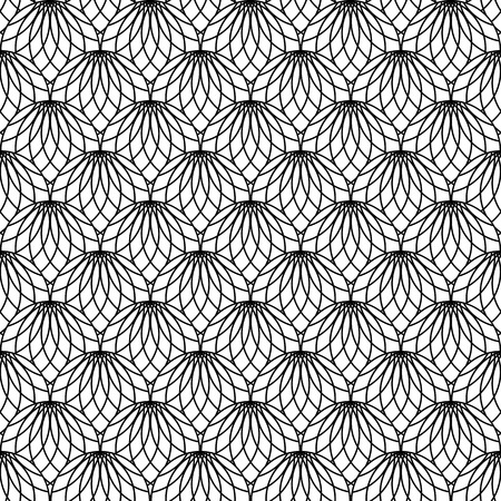 Seamless lacy pattern  Vector art  Vector