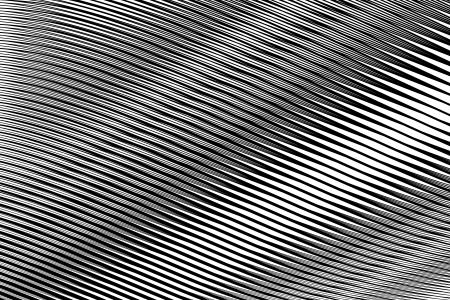 wavy lines: Abstract textured background in op art design. No gradient. Vector art.