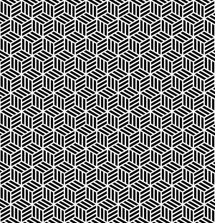 Seamless geometric texture in op art design. Vector art. Vector