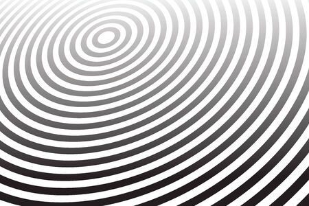 sound waves: Abstract circular background. Vector art.