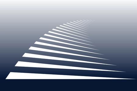 zebra crossing: White lines on blue . Symbolic stripes of zebra crossing. Vector art.  Illustration