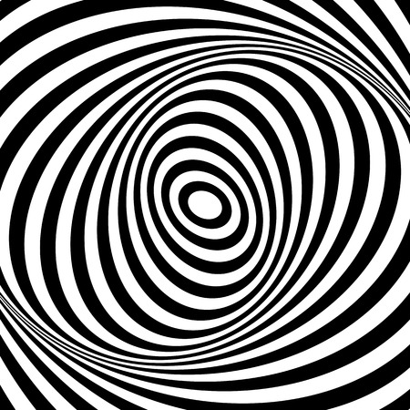 stripes patterns: Whirl movement illusion. Op art design. Abstract textured . Vector art. Illustration