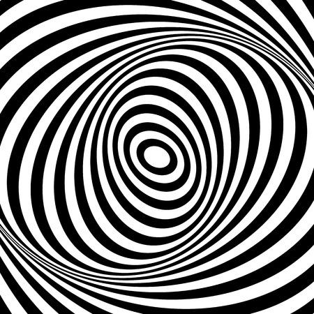 movement: Whirl movement illusion. Op art design. Abstract textured . Vector art. Illustration