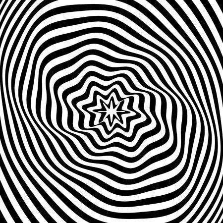 Abstract illusion texture. Op art design. Vector art. Illustration