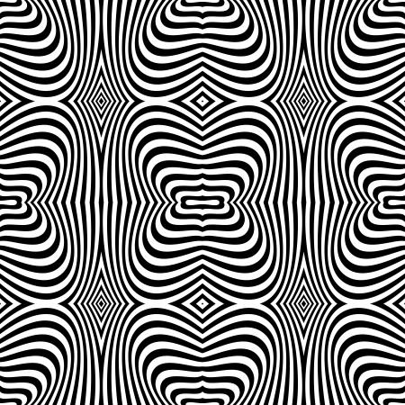 op art: Seamless op art texture. Zebra pattern design. Vector art. Illustration