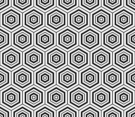 육각형 텍스처. 원활한 기하학적 인 패턴입니다. 벡터 아트.