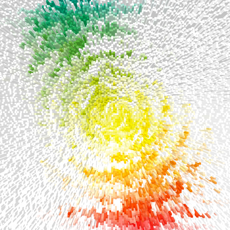 outburst: Abstract multicolor radiate outburst. Illustration.
