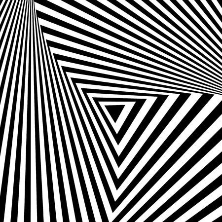 Abstract geometric backdrop in op art  design. Vector art.