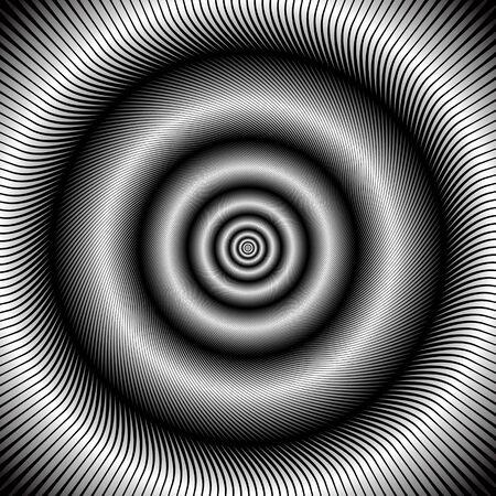 impulses: Abstract circular rotation background. Illustration. Stock Photo