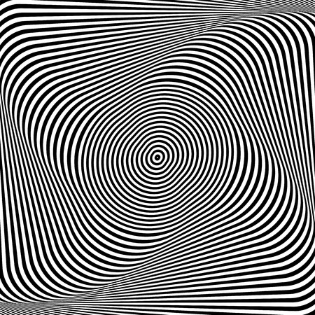 Torsion illusion. Abstract op art background. Vector art. Vector