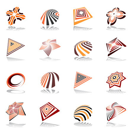 Design elements set. Abstract  icons. Vector art. Vector