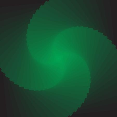 rotator: Illusion of rotation movement.  Abstract green backdrop. Vector art. No gradient. Illustration