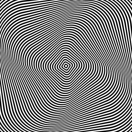 Abstract op art design. Vector art. Vector