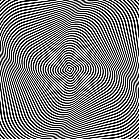 smooth curve design: Abstract op art design. Vector art. Illustration