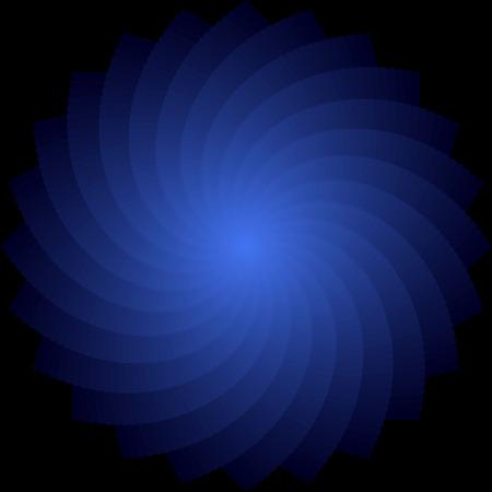 luminescence: Rotation. Abstract blue backdrop. Vector art. No gradient. Illustration