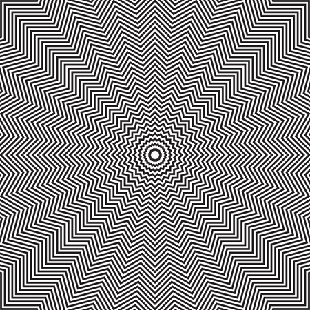 Optical illusion of rotation movement. Abstract op art background. Vector art. Ilustração