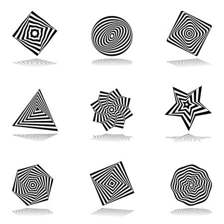 デザイン要素のセットです。抽象的なアイコン。ベクトル アート。