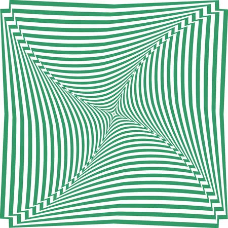 Abstract op art striped background. Vector art.