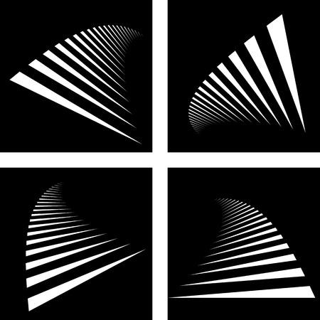 zebra crossing: Backdrops set art Illustration