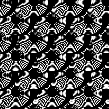 Pattern with circle spiral elements Vector