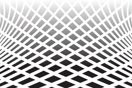 warp: Textured distorted surface. Abstract op art  background. Vector art. Illustration