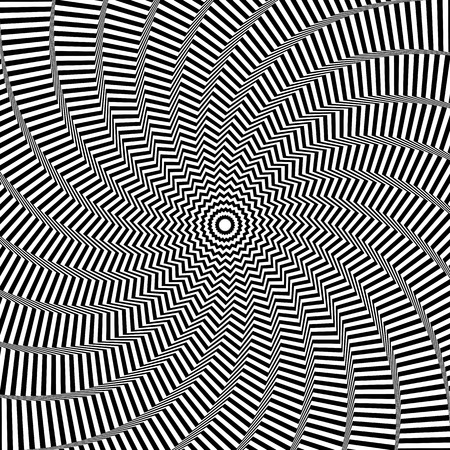 op: Illusion of rotation movement. Abstract op art background. Vector art.