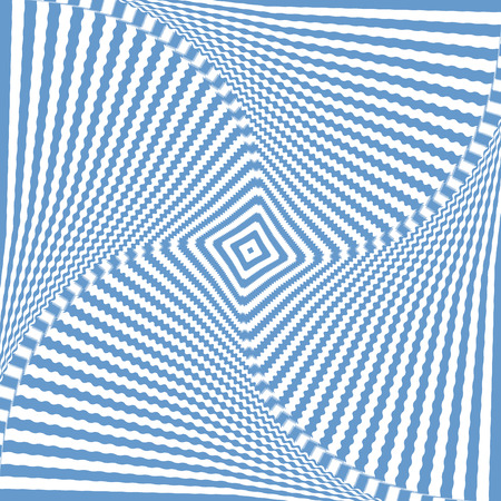 torsion: Illusion of rotation wavy movement. Abstract blue backdrop. Vector art.